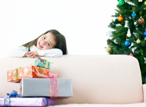 Girl at Christmas Time --- Image by © Royalty-Free/Corbis